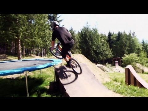 Ultimate freeride MTB house. I am going to build something like this for my Boy when he is old enough to ride!