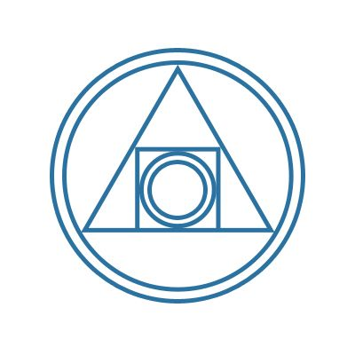 alchemy symbol: Quintessence (Hermetic Seal of Light) Based on the ancient Pythagorean philosophy, the symbol of Quintessence is considered to be the synthesis of alchemy and also referred to as the Hermetic Seal. It contains the triangle, the circle and the square that represent the spirit, soul and body, all the elements essential for alchemical transformation.