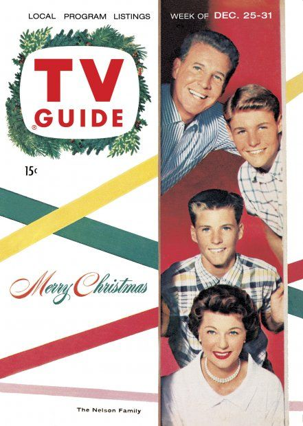 TV Guide, December 25, 1954 - The Nelson Family - Ozzie, David, Rickie, and Harriet