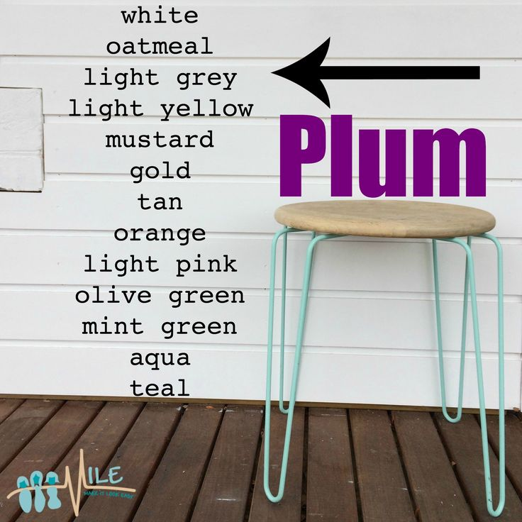 Plum goes with...