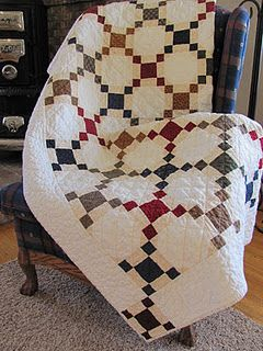 hand quilted nine patch  The nine patch is one of my favorite blocks