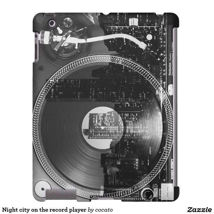 Night city on the record player iPad ケース
