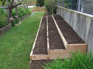 Stepped raised garden bed
