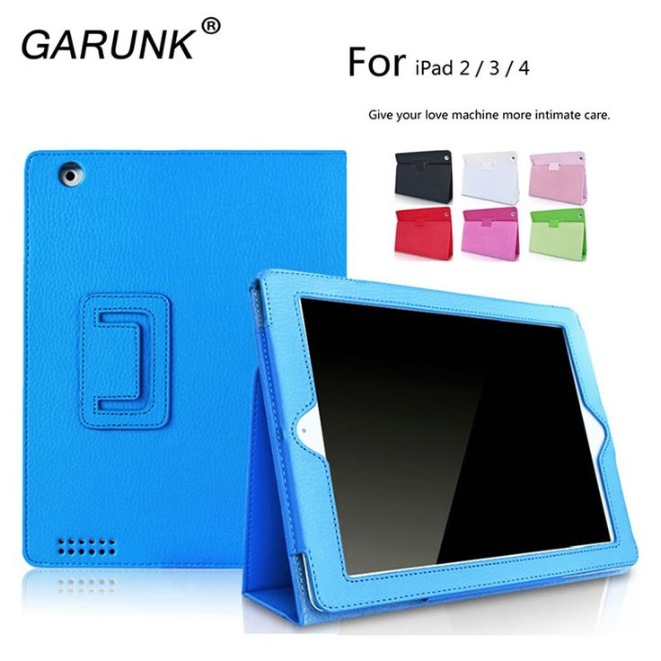 ==> [Free Shipping] Buy Best Case for iPad 2 3 4 GARUNK Litchi Flip Protective Solid PU Leather Stand Tablet Cover Holster for Apple iPad 2 iPad 3 iPad 4 Online with LOWEST Price | 32773236027
