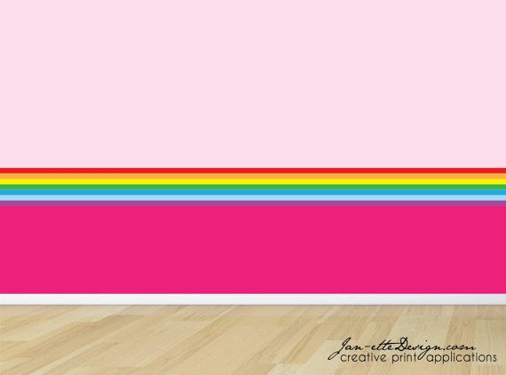 rainbow wall border removable fabric wall decal by janettedesign 2000