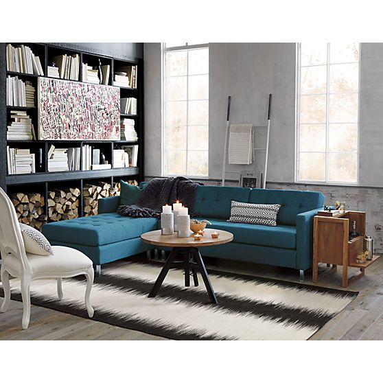 Best Cb2 S Catalog Features A Modern Sectional In Blue Paisley 400 x 300