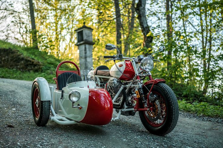 This must be the sexiest sidecar setup I've ever seen. Love the Guzzi and the paintjob. The Alpinist: A Moto Guzzi sidecar rig from NCT Motorcycles.