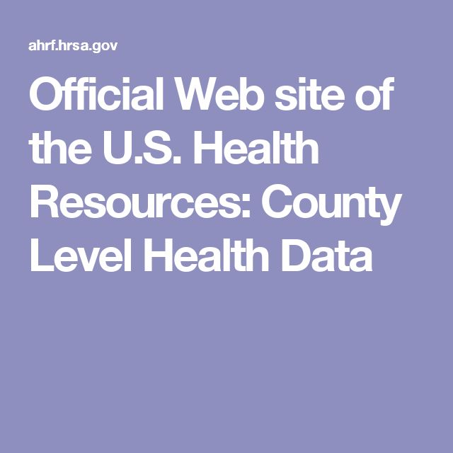 Official Web site of the U.S. Health Resources: County Level Health Data