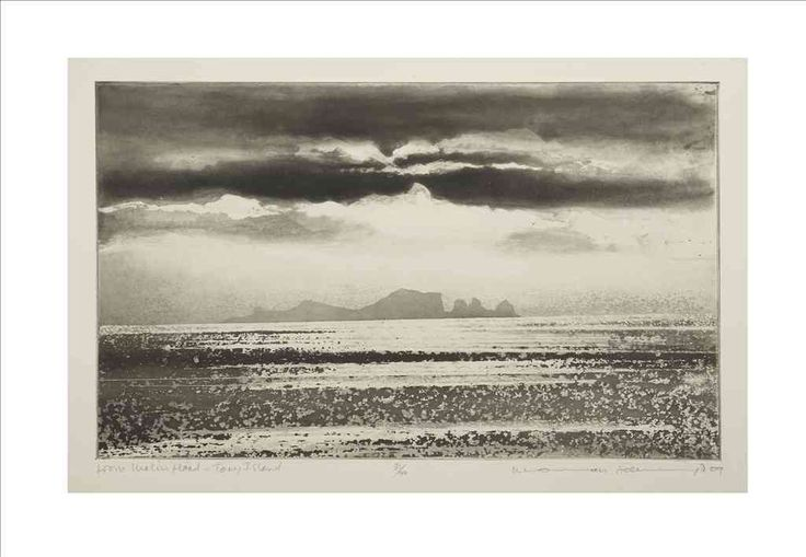 From Malin Head, Tory Island by Norman Ackroyd RA RE A fine example of the technique of spit-biting.