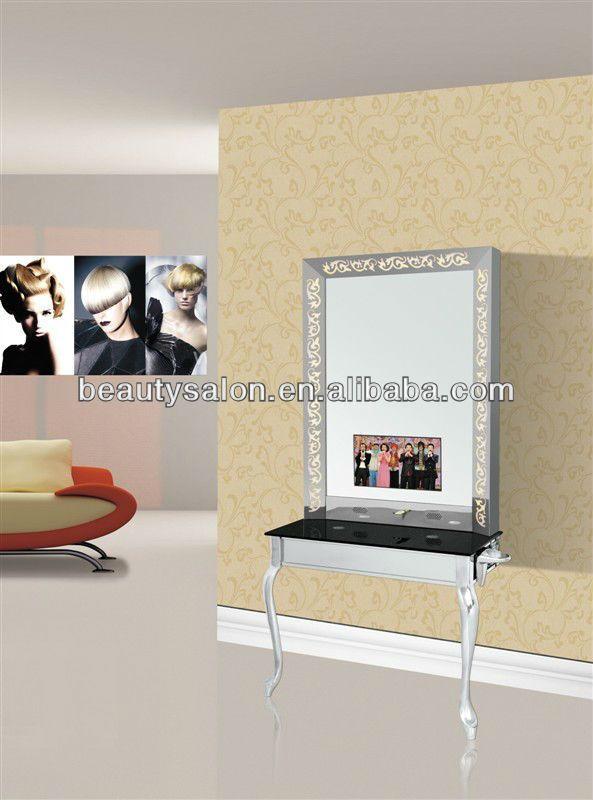 #TV salon mirror station, #mirror set, #salon mirror