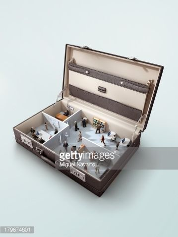 Stock Photo : Office in a briefcase