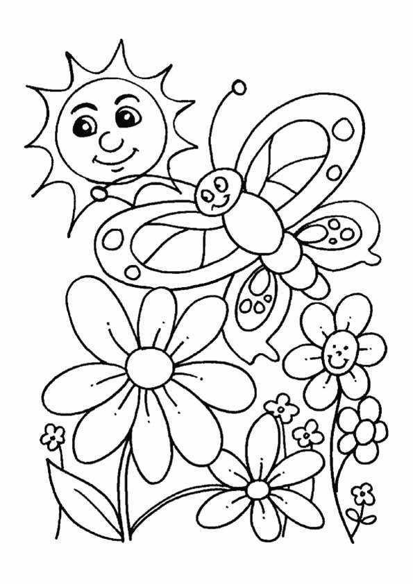 Spring Preschool Coloring Worksheets. Spring. Best Free