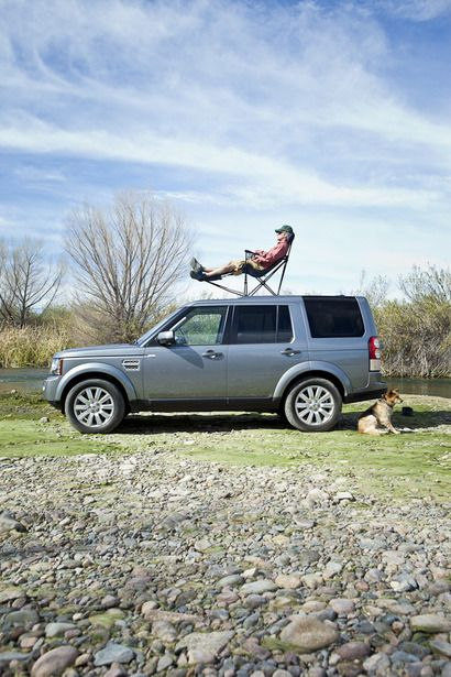 Best seat in the house. Re-pin if you agree. #LandRover #LR4