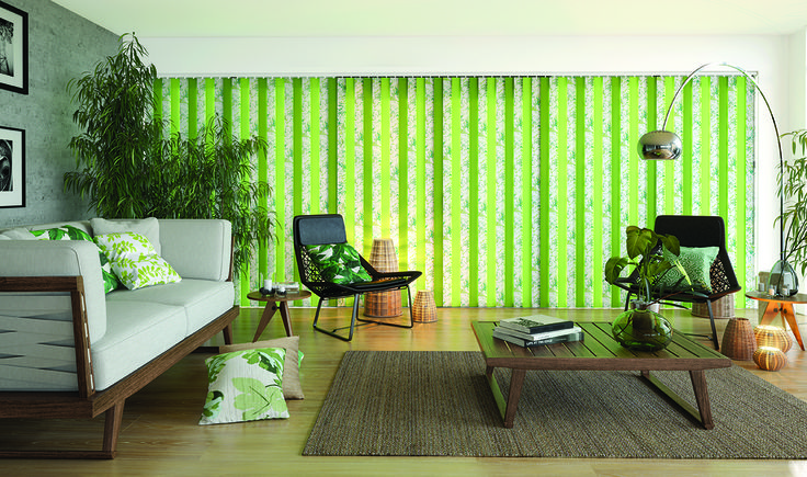 A different take on the Tropicana Mojito look from Solar Sunshades #Interiors #mojito #tropical #tropicana #blinds #lounge #decor #green