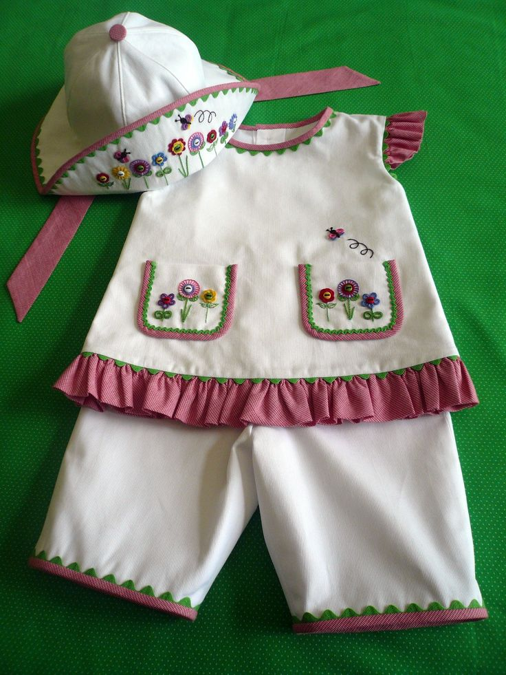 This is a kit from Gail Doane - Sweet Baby Jane - Size 1-4 - Red Combination or Baby Blue combination. $65.00, via Etsy.