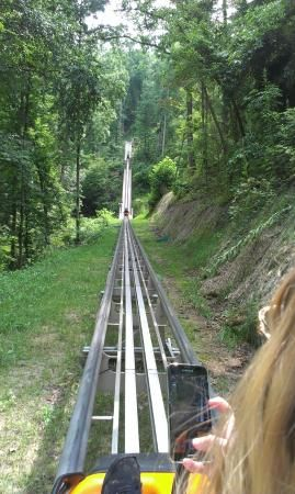 Pigeon Forge | Smoky Mountain Alpine Coaster - mountain views.