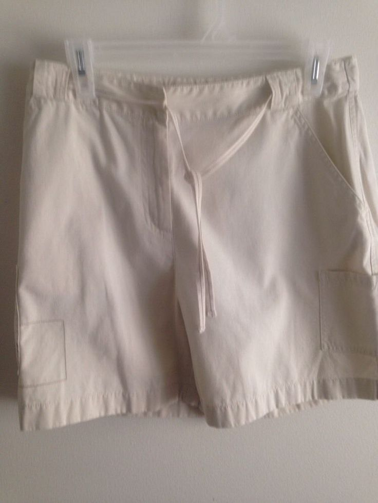 J. Jill Women's Cream Shorts Size 8 Cotton  NWOT #JJill #CasualShorts