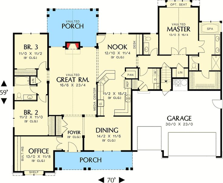 an empty nesters dream home 69005am architectural designs house plans
