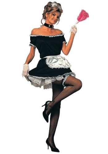 Women's French Maid Costume - Adult French Maid Halloween Costumes