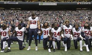 Texans players kneel during anthem after team owner calls them 'inmates' | Sport | The Guardian