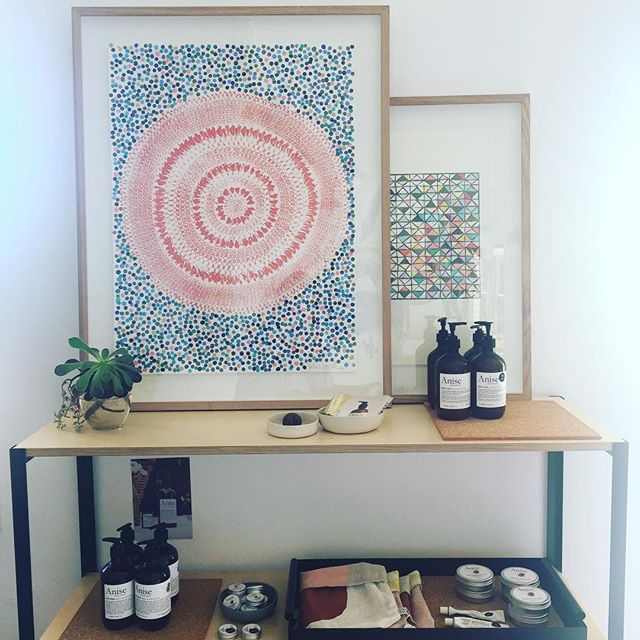 #shelfie 'Delilah' Mandala print by #lumiereartandco  Call us if you can see this beauty in your home  xx
