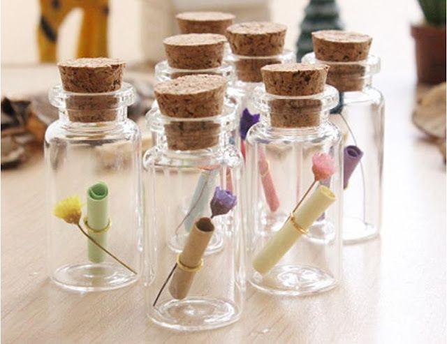 el yapımı romantik şişe