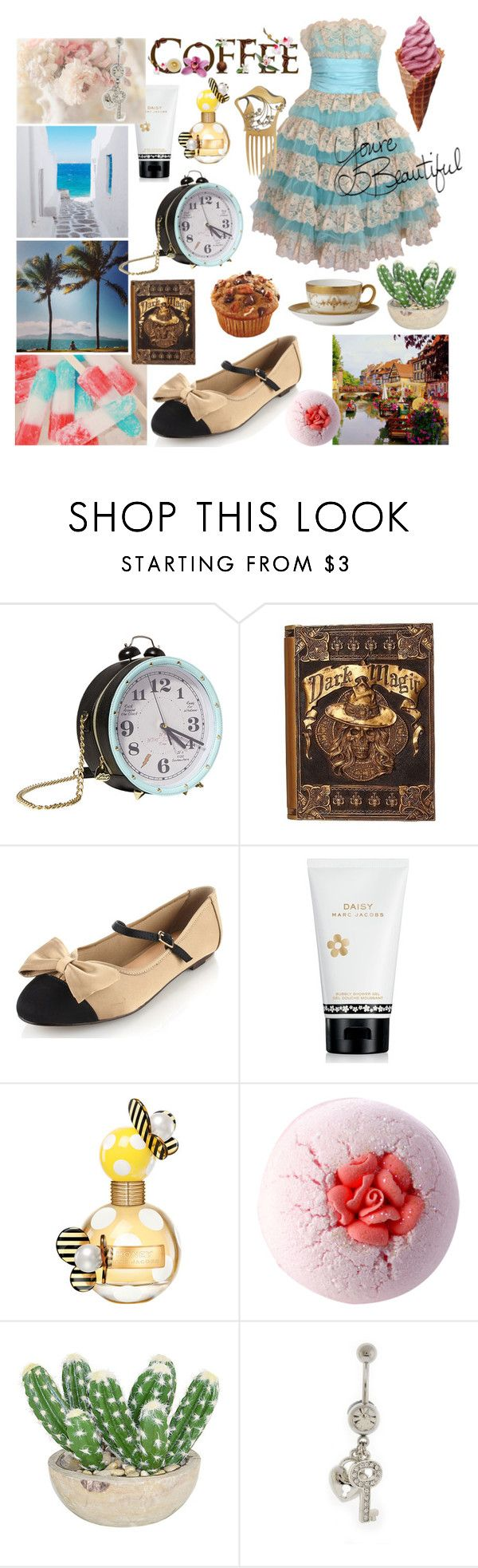 """""""Destination"""" by tery ❤ liked on Polyvore featuring Betsey Johnson, Marais USA, LIST, Marc Jacobs, Wedgwood & Bentley and The French Bee"""