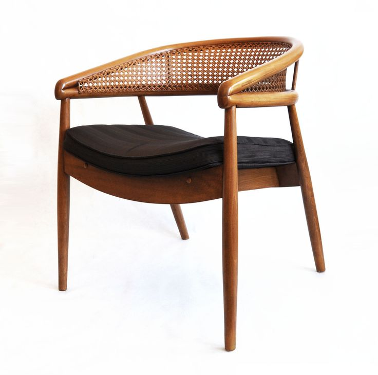 Michael Fullen Design Group — Vintage Cane Chair with Seat Cushion