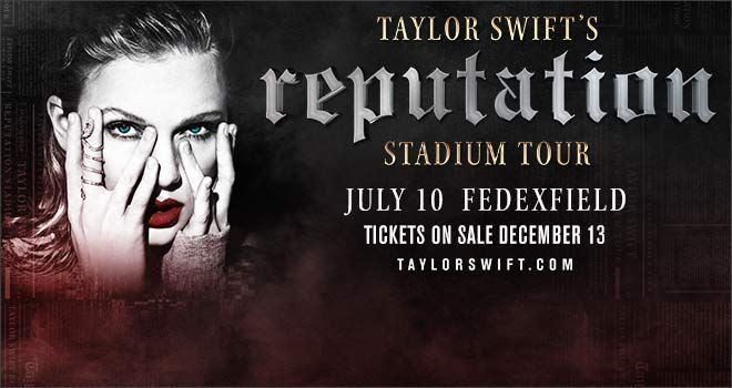 #tickets 2-6 Taylor Swift Tickets Washington D.C. July 10 Fedex Field please retweet