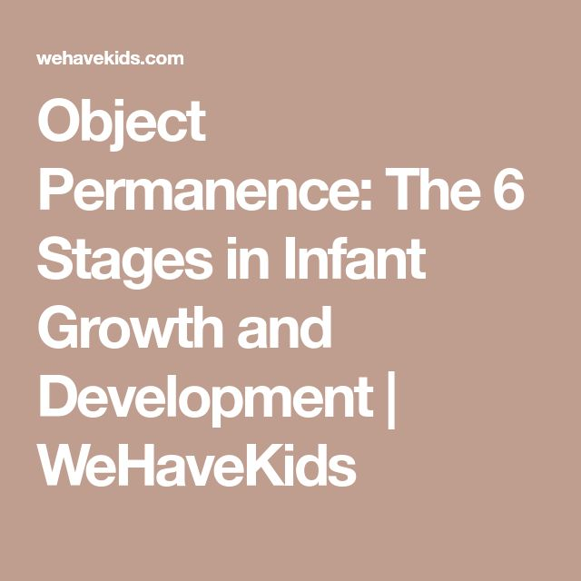 Object Permanence: The 6 Stages in Infant Growth and Development   WeHaveKids