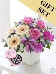 Mother's Day Elegance Arrangement with Chocolate Truffles