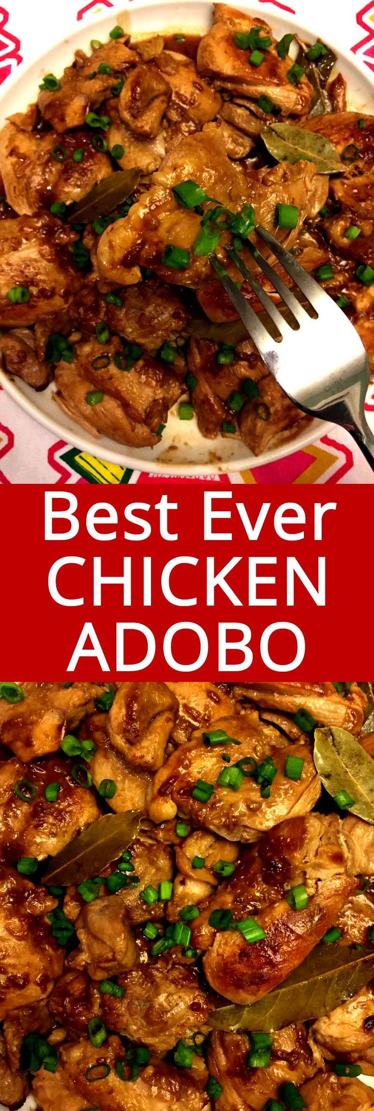 I love chicken adobo! This is my favorite Filipino recipe and it tastes totally authentic! This is the only chicken adobo recipe you'll ever need!