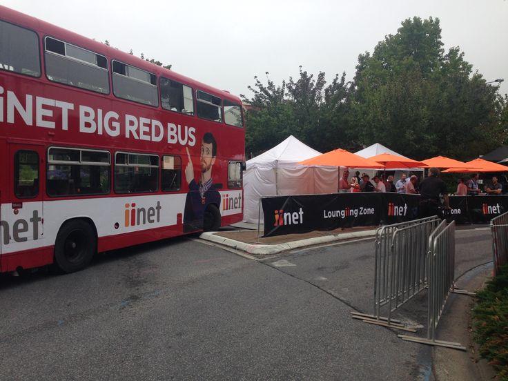 iinet Big Red Bus with the iinet Loungiing Zone - Stirling