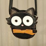 Comeco Inc Bow Black Cat Crossbody Bag for sale at Cats Like Us - 1