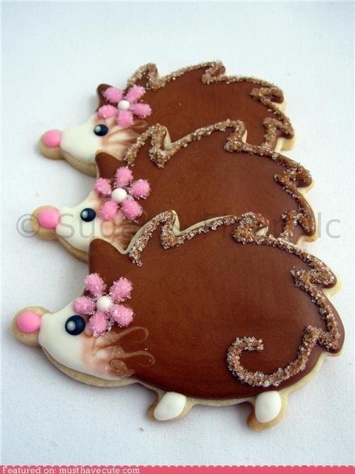 Fancy Hedgehog Cookies
