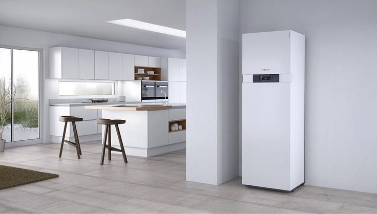 Convenient size and an #awardwinning #design makes the #Viessmann #Vitodens 242-F a perfect fit. As a combination of a gas-fired #condensingboiler and a #solarthermal storage tank it combines #stateoftheart #energyefficiency and the use of #renewableenergy in one compact #heating #system. #hvac #renewableenergy #отопление #sustainableenergy #efficiency #solarpower #solarenergy #hvactech