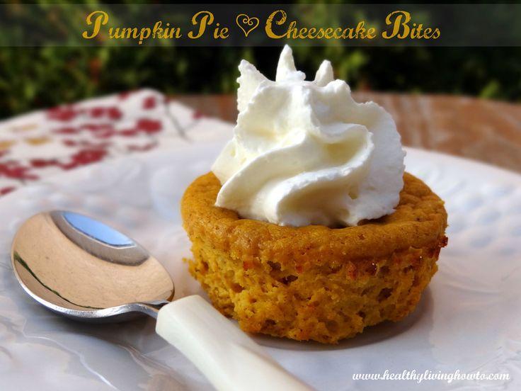 Pumpkin Pie Cheesecake Bites