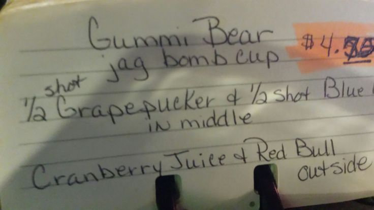 Gummi bear shot