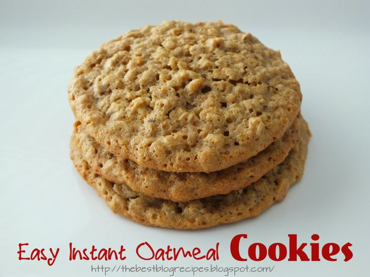 Easy Instant Oatmeal Cookies  - uses 2 apple/cinnamon instant oatmeal packs