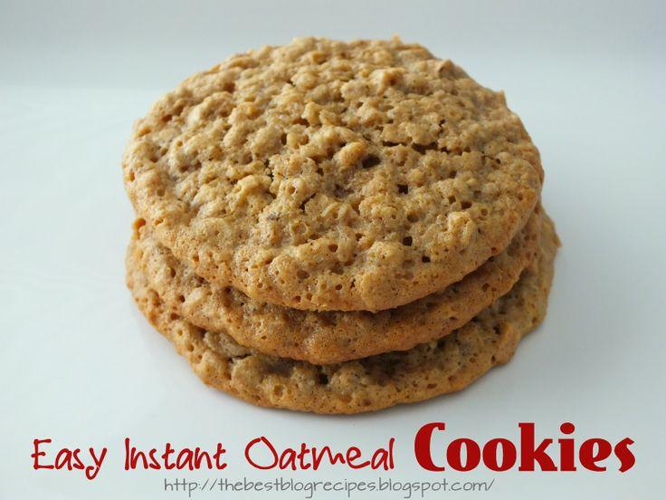 Easy Instant Oatmeal Cookies  - uses 2 apple/cinnamon instant oatmeal packs