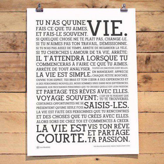 la vie est courte! enjoy!