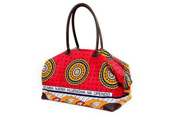 Kenyan 'Kanga' Bags by HittheBeach on Etsy, $109.00