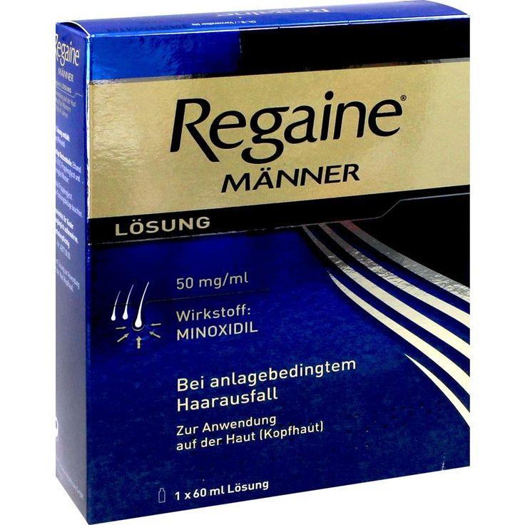 REGAINE Männer Minoxidil Lösung gegen Haarausfall:   Packungsinhalt: 60 ml Lösung PZN: 03671025 Hersteller: Johnson & Johnson GmbH (OTC)…