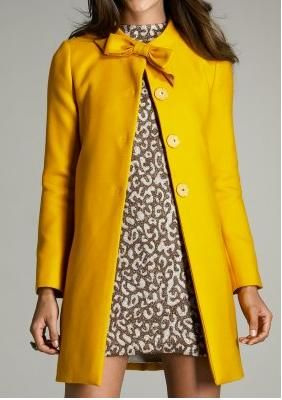 A Yellow Coat with leopard underneath--gorgeous!