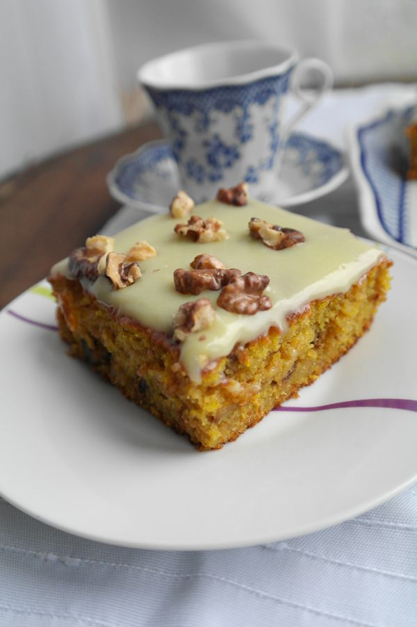 Тыквенный пирог с белым шоколадом