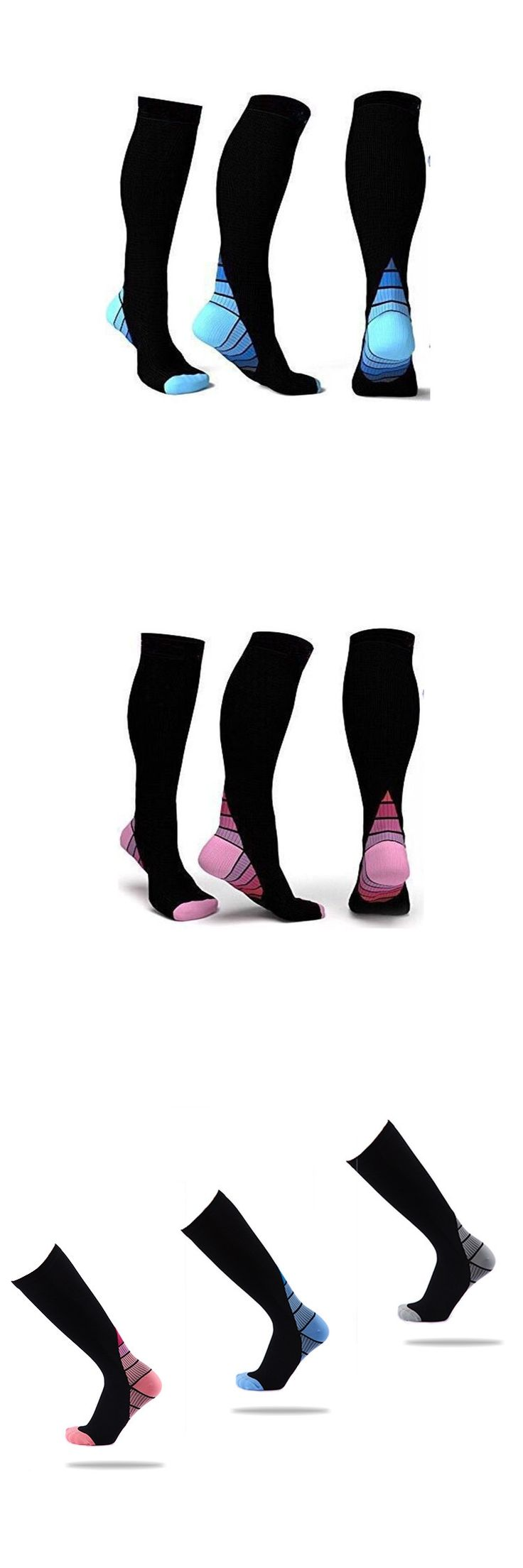 Men's Professional Compression Socks Breathable Travel long Activities Fit for Nurses Shin Splints Flight Travel