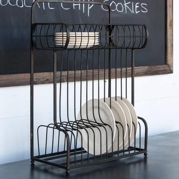 rustic industrial wall or counter iron plate file folder rack. Black Bedroom Furniture Sets. Home Design Ideas