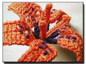 Wood lily crochet flower pattern