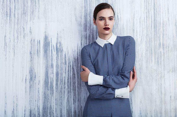 LUBLU Kira Plastinina FW14 digital print maxi dress.