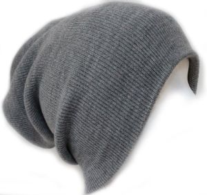 Don't Usually Wear Beanies But I Really Like This Ribbed Beanie Hat Slouch Style Skull Cap Ski Hat Light Grey
